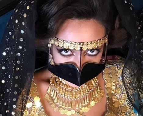 Facemask, burghu, burka, face veil, veil,